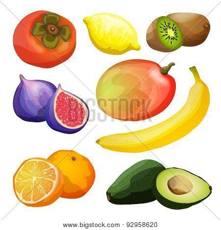 Exotic Fruits Set