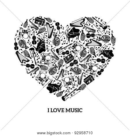 Love Music Concept