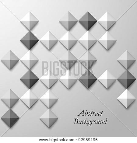 Abstract Black White Square Background