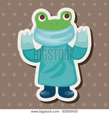 Animal Frog Doctor Cartoon Theme Elements