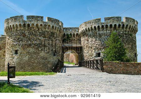 Zindan Gate of Kalemegdan fortress,Serbia.