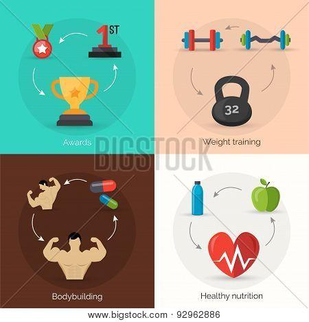 Bodybuilding Flat Set