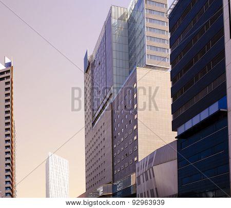 Barcelona city skyscrapers