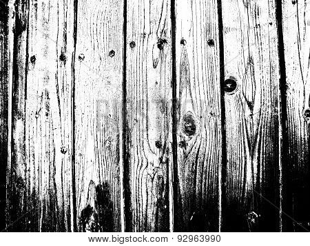 Scary Black And White Wood Detailed Background