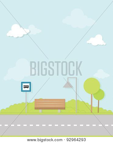 bus stop image