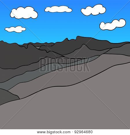 Mountain Range Sky Vector image