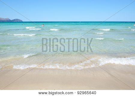 The Beach Near Luxury Hotel, Mallorca, Spain