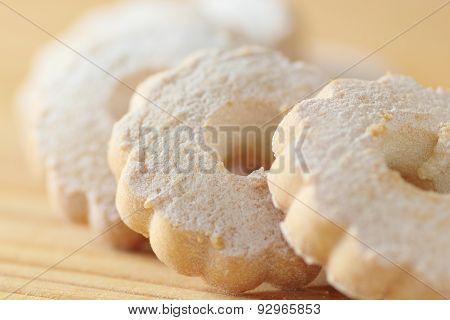 Italian Cookies Arranged On A Wooden Table