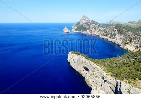 The Cape Formentor In Mallorca Island, Spain