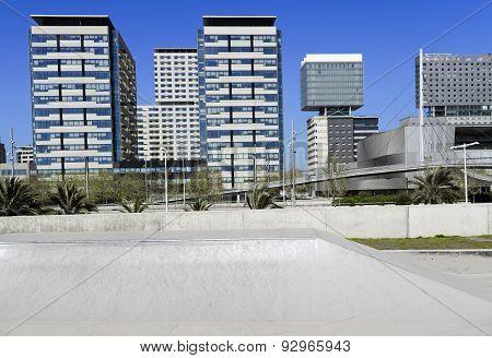 Office buildings skyline