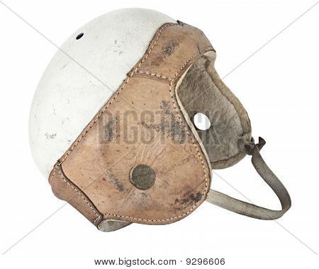 Vintage Leather Football Helmet