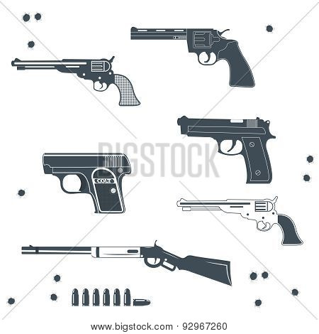 Guns collection set of Bullet