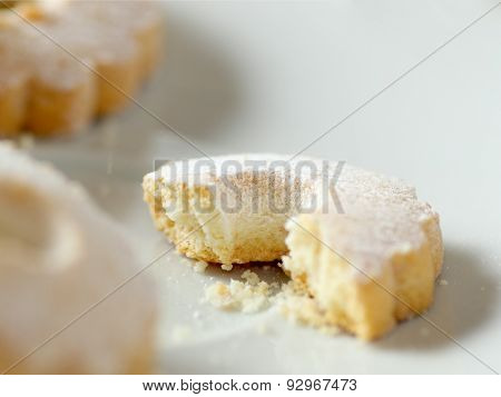 Nibbled Italian Canestrelli Biscuit