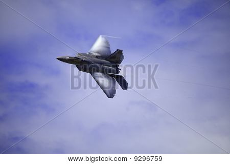 F-22 Raptor in flight over Hawaii