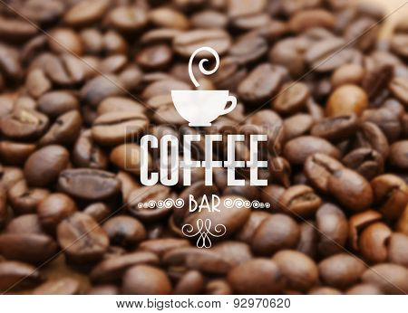 Background of coffee beans - ideal for cafe bar