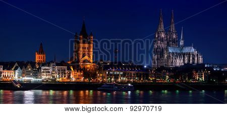 Panoramic View Of Cologne, Germany
