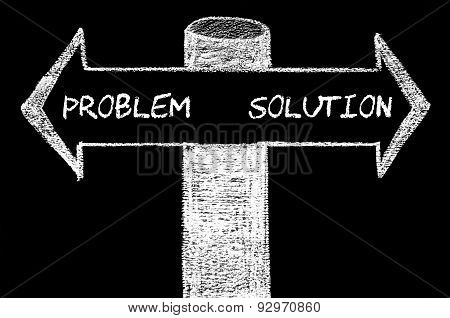 Opposite Arrows With Problem Versus Solution