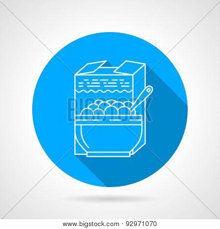 Line vector icon for porridge