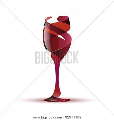 Wineglass, eps10 vector