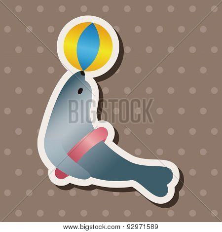 Baby Toy Seadog Doll Theme Elements
