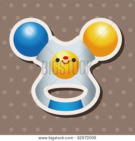 Baby Toy Rattle Theme Elements