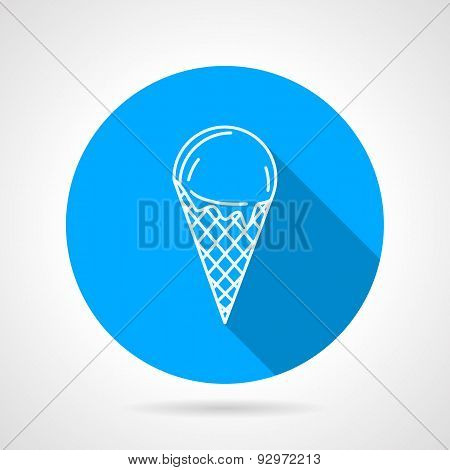 Line vector icon for ice cream