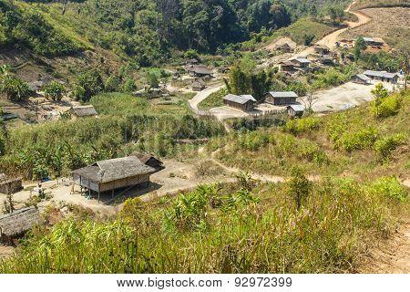 Hill Tribe Village, Shan State, Myanmar (burma)