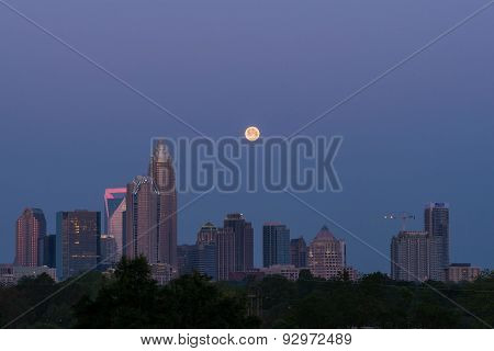 Full Moon Over Charlotte, North Carolina 2