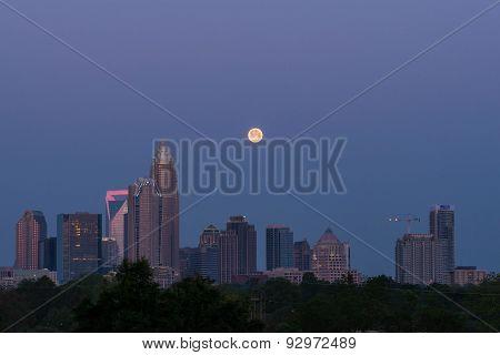 Full Moon Over Charlotte, North Carolina 2