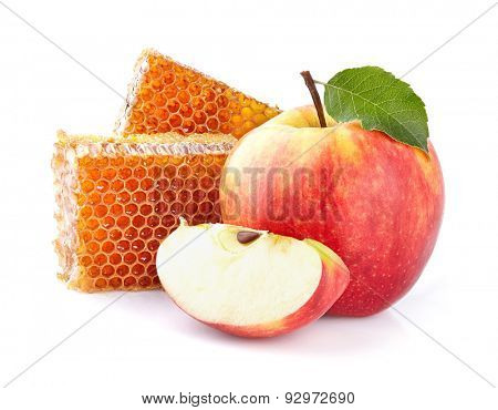 Apple with honeycombs