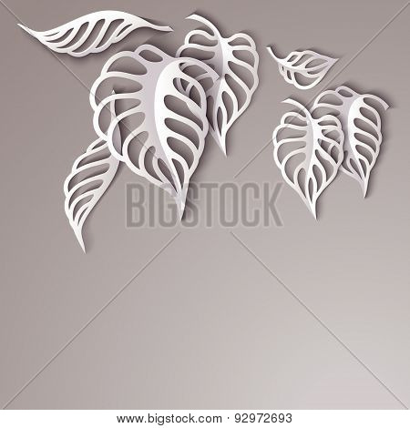Paper design gray Leaves Background