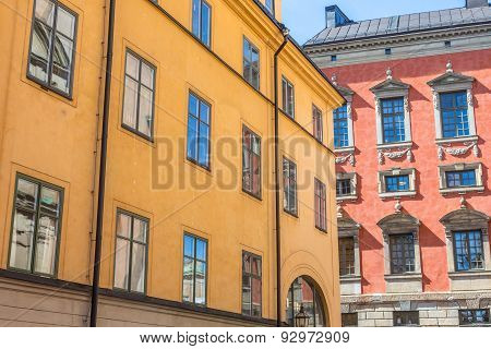 Colorful Buildings In Gamla Stan