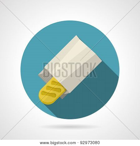 Flat color vector icon for baguette