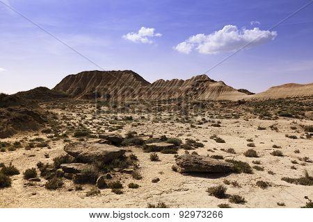desert landscape in Bardenas Reales