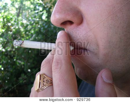 Man. Smoking