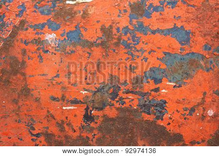 Background with old painted metal surface