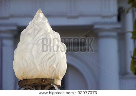 White Glass Lamp Dome