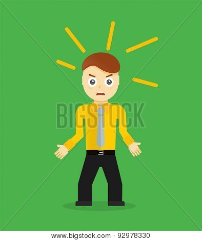 Businessman pose character concepts. Step, world, office and charts. Flat design