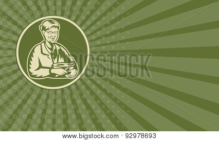 Business Card Granny Grandmother Cooking Mixing Bowl