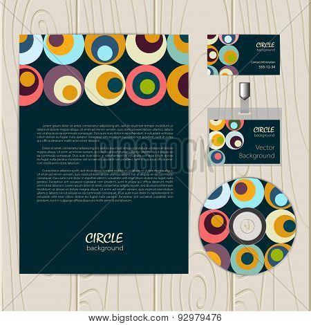 Vector retro circle corporate identity
