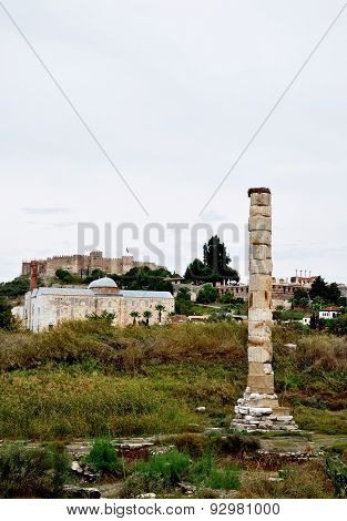 The Temple of Artemis in Ephesus, Turkey