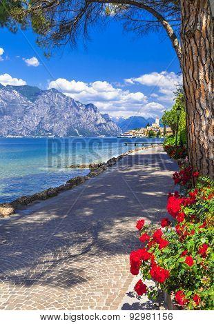 Italian holidays. scenic Lago di Garda- Malcesine