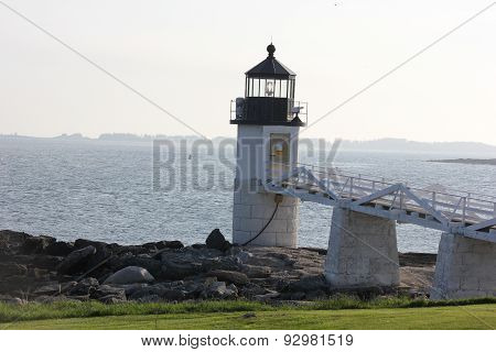 Marshall Point Lighthouse in Maine at Twilight