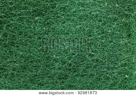 Texture of clean scrubber in green color
