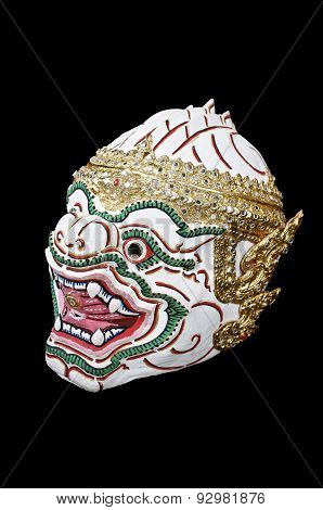 Thai traditional actor's mask, Male masked dance drama of Thailand