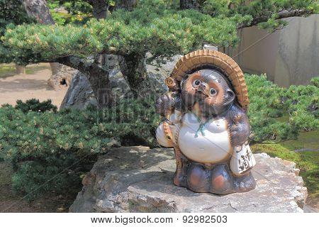 Raccoon statue Kyoto Japan