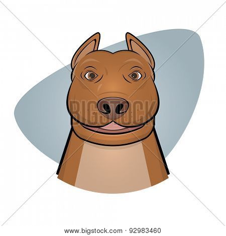 smiling pitbull illustration