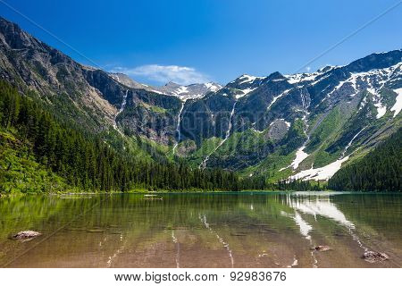 Scenic Mountain Views, Avalanche Lake, Glacier National Park Montana
