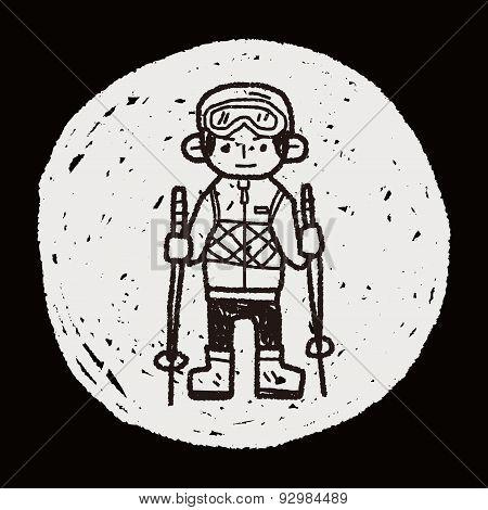 Skiing Doodle