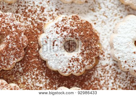 Canestrelli Biscuit With Cocoa And Sugar